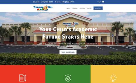 Treasure Kids Academy Childcare learning center website