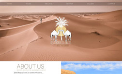 Best Morocco Travel Moroccan travel agency with a clean modern design,...