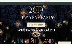 WG New Year Party We created a website for a Westankärr Estate Event...