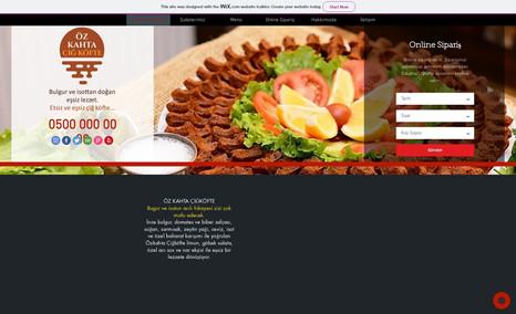 ozkahta Demo Çiğköfte Dükkanı Sitesi