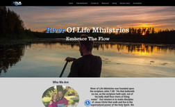 River of Life Ministries Great website redesign of a very aged website to a...
