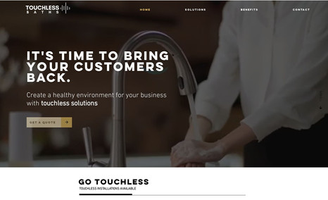 Touchless Baths A modern, concise, directive and user-friendly web...