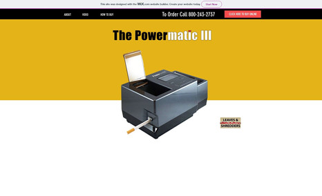 Powermatic 3 Single product website for an amazing RYO injector...