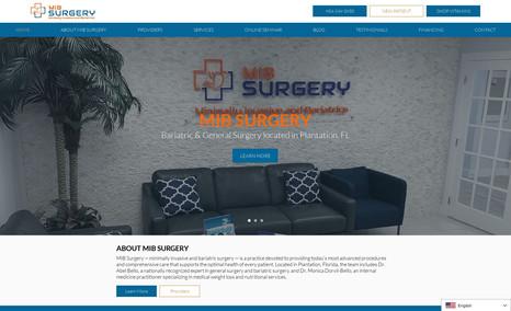 MIB Surgery WIX Website for MIB Surgery.