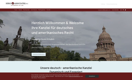 Law Office of David Sergi Our client needed a German website to inform his G...