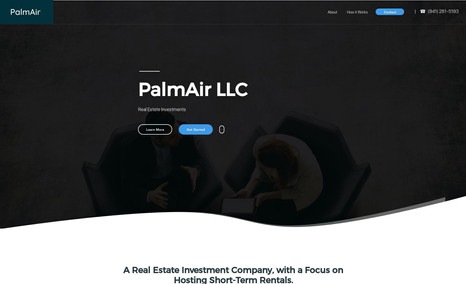 PalmAir LLC Complete Website Design for PalmAir LLC.