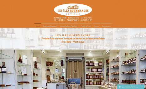 Les Iles Gourmandes Site vitrine d'une boutique de produits artisanaux...