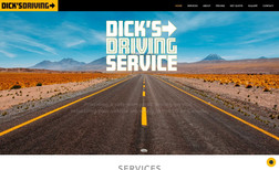 Dicks Driving Service I created this site and logo.  I love incorporatin...