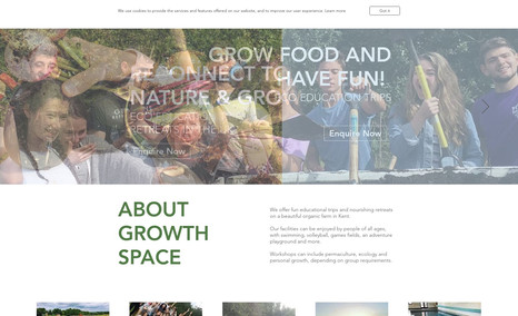 Growth Space Eco Education & Retreats Website