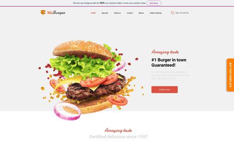 Wix Burger Premium Multi-purpose Wix Templates for Restaurant...