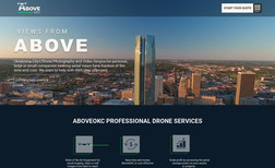 Above OKC Oklahoma Drone Service.   - Full Site Design  - Lo...