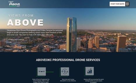 Above OKC Oklahoma Drone Service.   - Full Site Design  - Lo...