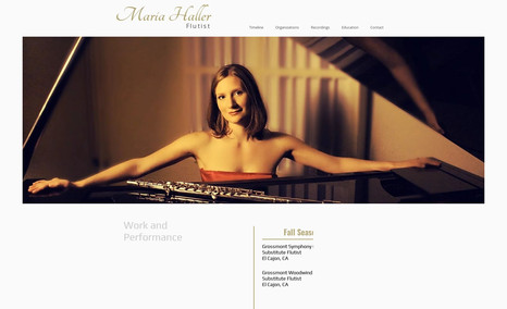 maria-haller This is a one-page portfolio website. The design i...