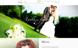 lynkz-flowers Classic portfolio site for Wedding florist, featur...