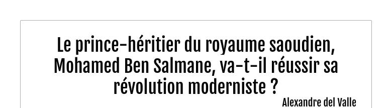 Le prince-héritier du royaume saoudien, Mohamed Ben Salmane, va-t-il réussir sa révolution modern...
