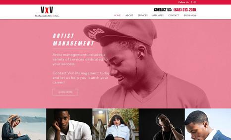 VxV Management WIX website for VxV Management.