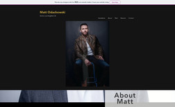 Matt Odachowski I designed a simple website to help Matt showcase ...