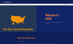 FOUR - For Our United Republic We helped a veteran with a wonderful story build t...